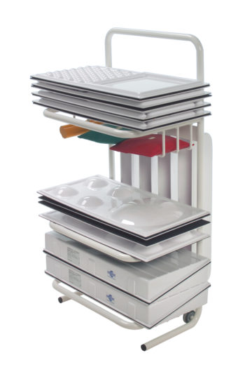 Chariot stockage modules ambulatoires